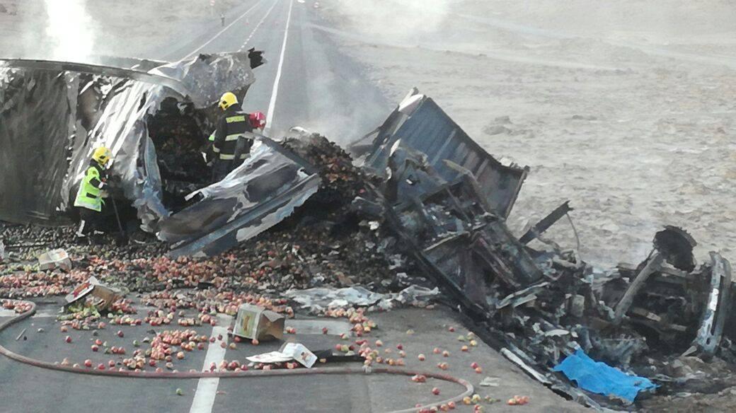 Photo of Tragedia carretera: Chofer muere calcinado