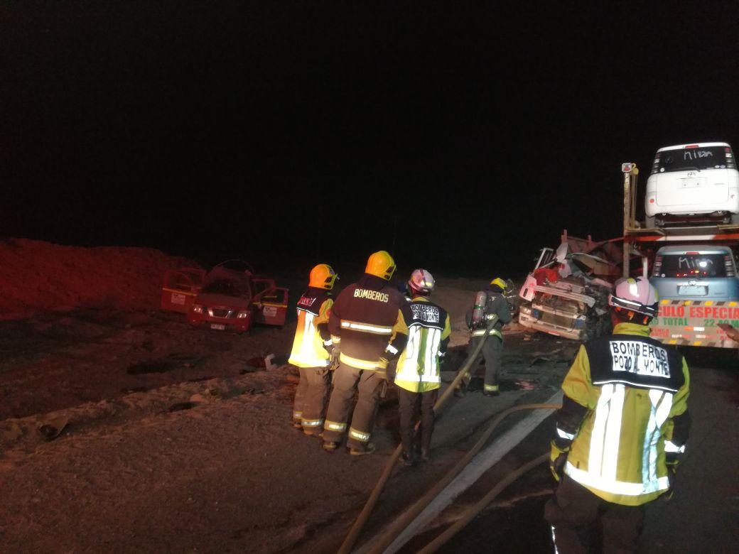 Photo of (VIDEO) Dos muertos en colisión múltiple de camiones