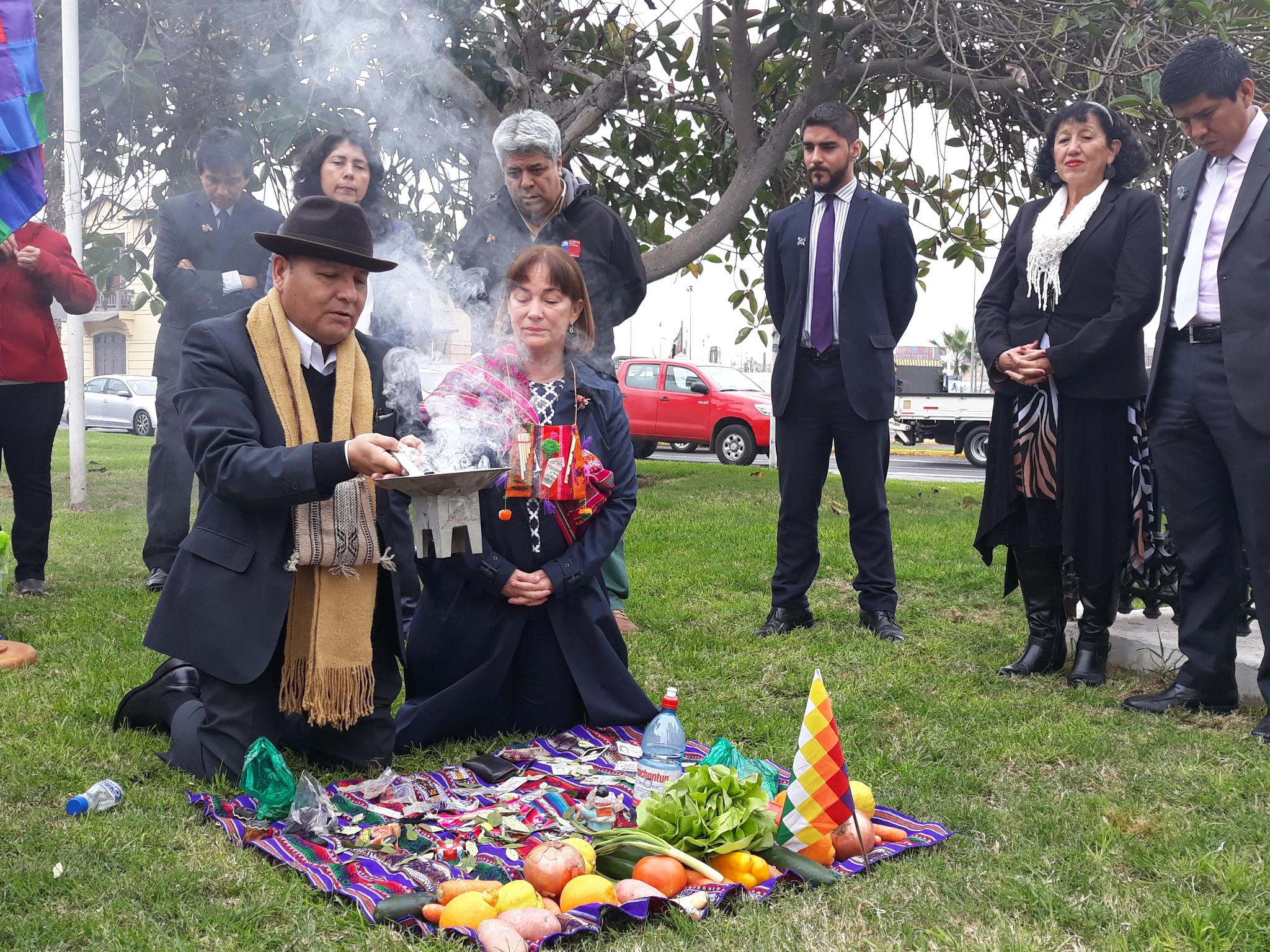 Photo of Funcionarios de Bienes Nacionales dieron la bienvenida al año nuevo indígena con ceremonia de Machaq Mara